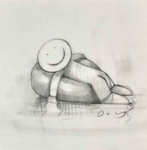 The Good Old Days (study) by Doug Hyde - Original Drawing on Mounted Paper